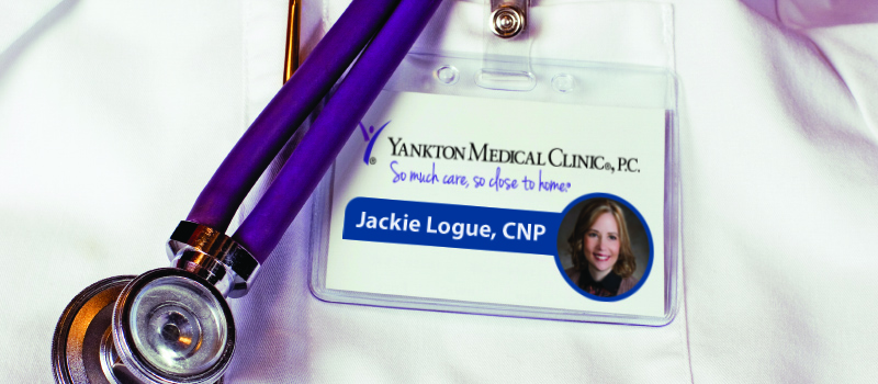 Name Tag of Jackie Logue, CNP