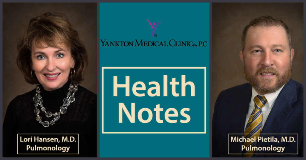 Health Notes with pictures of Dr. Lori Hansen and Dr. Michael Pietila
